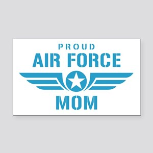 Proud Air Force Mom W Rectangle Car Magnet
