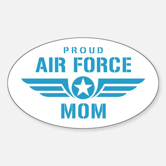 Proud Air Force Mom W Sticker (Oval)