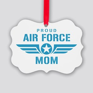 Proud Air Force Mom W Picture Ornament
