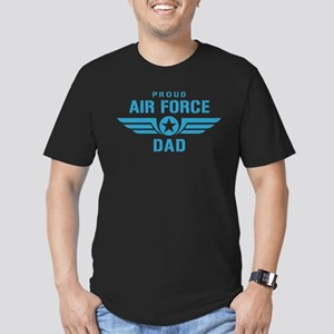 Proud Air Force Dad W Men's Fitted T-Shirt (dark)