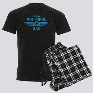 Proud Air Force Dad W Men's Dark Pajamas