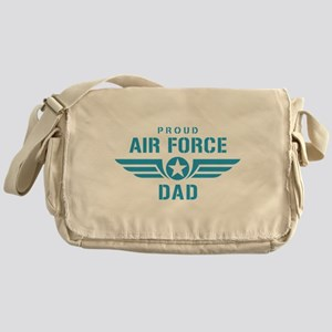 Proud Air Force Dad W Messenger Bag