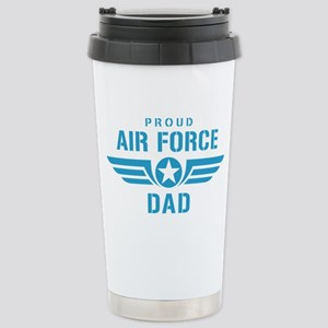 Proud Air Force Dad W Stainless Steel Travel Mug