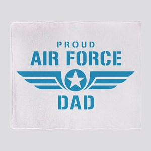 Proud Air Force Dad W Throw Blanket