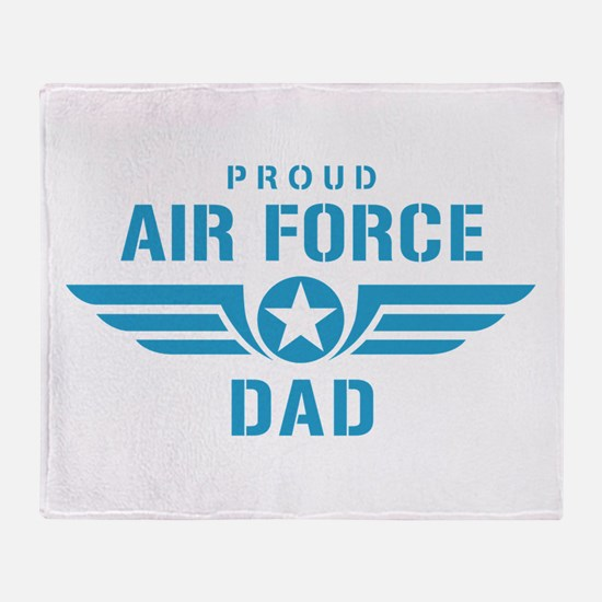 Proud Air Force Dad W Throw Blanket