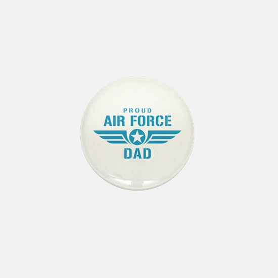 Proud Air Force Dad W Mini Button