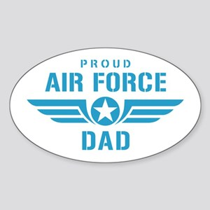 Proud Air Force Dad W Sticker (Oval)