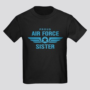 Proud Air Force Sister W Kids Dark T-Shirt