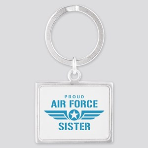 Proud Air Force Sister W Landscape Keychain