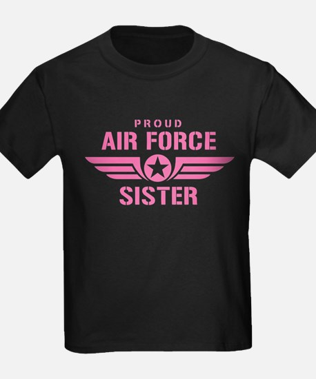 Proud Air Force Sister W [pink] T