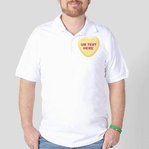 Banana Candy Heart Personalized Golf Shirt