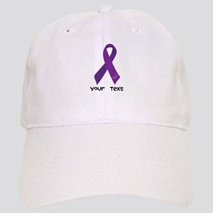 Personalized Purple Ribbon Cap