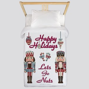 Happy Holidays Nutcracker Twin Duvet