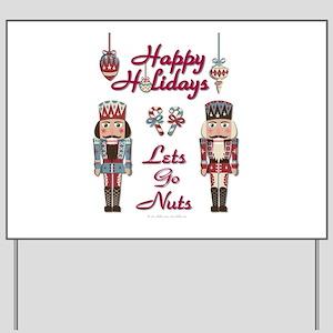 Happy Holidays Nutcracker Yard Sign