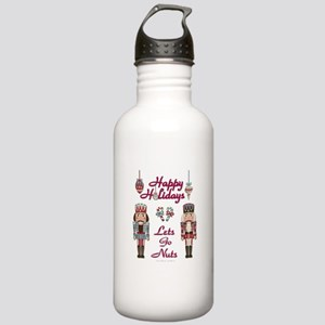 Happy Holidays Nutcracker Water Bottle