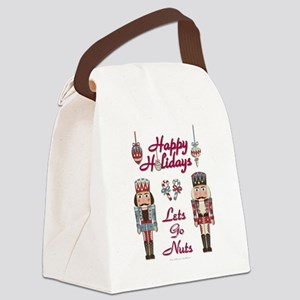 Happy Holidays Nutcracker Canvas Lunch Bag
