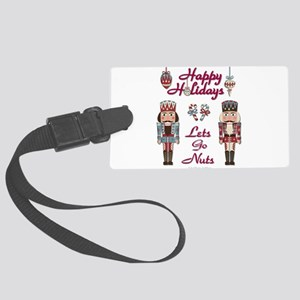 Happy Holidays Nutcracker Luggage Tag