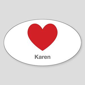 Karen Big Heart Sticker