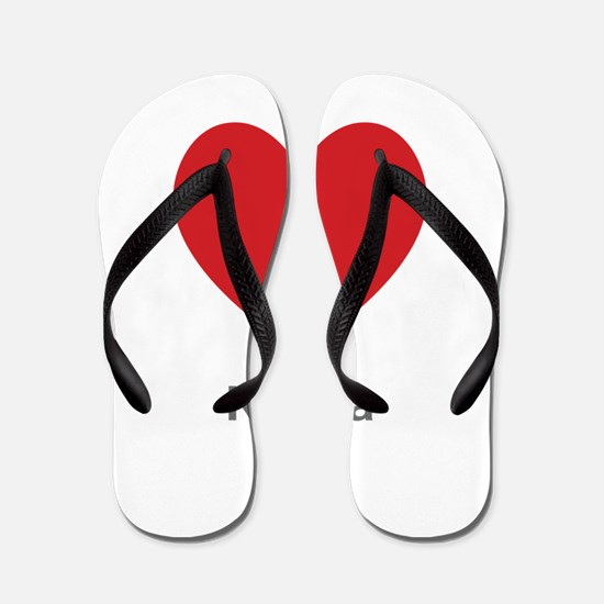 Karina Big Heart Flip Flops