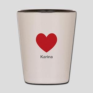 Karina Big Heart Shot Glass