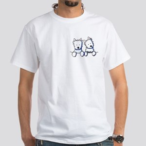 Pocket Westie Duo White T-Shirt