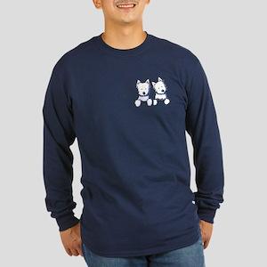 Pocket Westie Duo Long Sleeve Dark T-Shirt