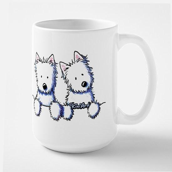 Pocket Westie Duo Large Mug