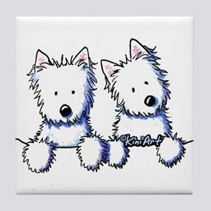 Pocket Westie Duo Tile Coaster