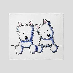 Pocket Westie Duo Throw Blanket