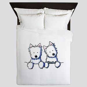 Pocket Westie Duo Queen Duvet