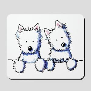 Pocket Westie Duo Mousepad