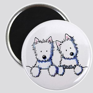 Pocket Westie Duo Magnet