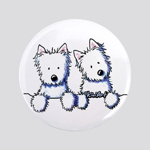 "Pocket Westie Duo 3.5"" Button"