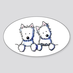 Pocket Westie Duo Sticker (Oval)