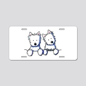 Pocket Westie Duo Aluminum License Plate