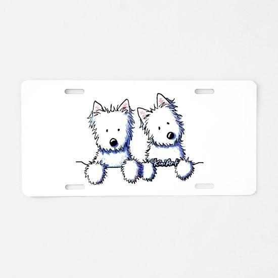 Pocket Westie Duo Aluminum License Plate