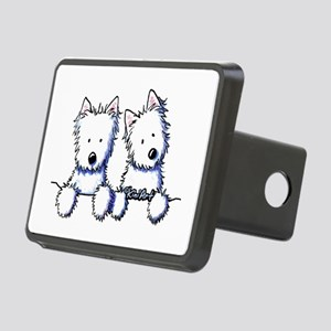 Pocket Westie Duo Rectangular Hitch Cover