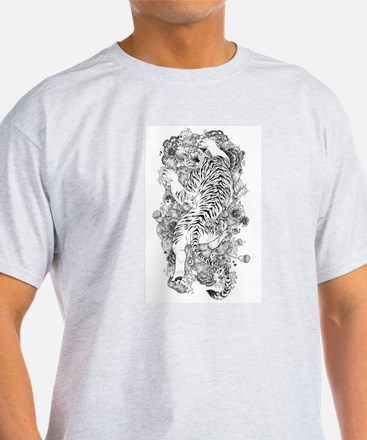 Albino Tiger Tattoo T-Shirt