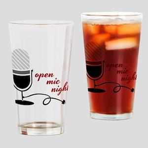 Open Mic Night Drinking Glass