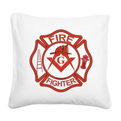 MASONIC FIRE-FIGHTER Square Canvas Pillow