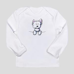 Pocket Westie Caricature Long Sleeve Infant T-Shir