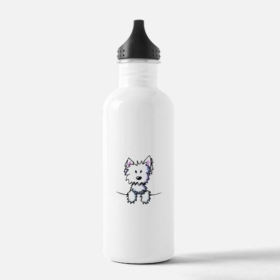 Pocket Westie Caricature Water Bottle