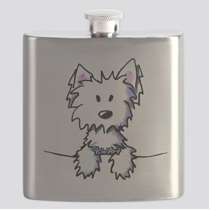 Pocket Westie Caricature Flask