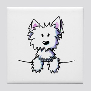 Pocket Westie Caricature Tile Coaster