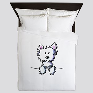 Pocket Westie Caricature Queen Duvet