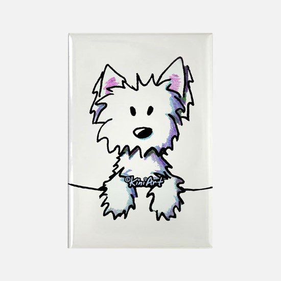 Pocket Westie Caricature Rectangle Magnet