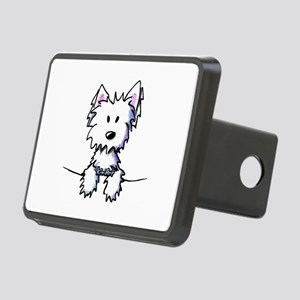 Pocket Westie Caricature Rectangular Hitch Cover