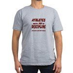 The Joy of Discipline Men's Fitted T-Shirt (dark)