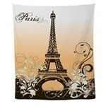 Eiffel Tower Paris Wall Tapestry