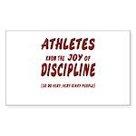 The Joy of Discipline Sticker (Rectangle)